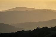 Overlooking the Santa Cruz Mountains from Russian Ridge Open Space Preserve, San Mateo County, California