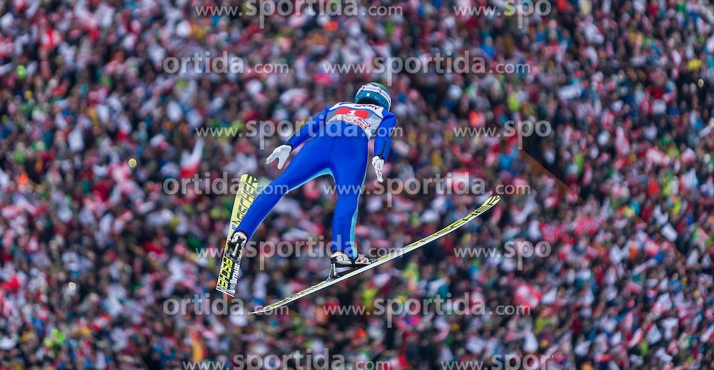 03.01.2016, Bergisel Schanze, Innsbruck, AUT, FIS Weltcup Ski Sprung, Vierschanzentournee, Bewerb, im Bild Michael Hayboeck (AUT) // Michael Hayboeck of Austria during his Competition Jump of Four Hills Tournament of FIS Ski Jumping World Cup at the Bergisel Schanze, Innsbruck, Austria on 2016/01/03. EXPA Pictures © 2016, PhotoCredit: EXPA/ Jakob Gruber during his Competition Jump of Four Hills Tournament of FIS Ski Jumping World Cup at the Bergisel Schanze, Innsbruck, Austria on 2016/01/03. EXPA Pictures © 2016, PhotoCredit: EXPA/ Jakob Gruber