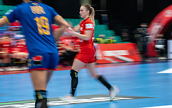 Natalia Nosek of Poland during the Women's EHF Euro 2020 match between Poland and Romania at Sydbank Arena on december 05, 2020 in Kolding, Denmark (Photo by RHF Agency/Ronald Hoogendoorn)