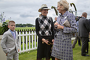 SHARON STONE AND HER SON ROAN; CARLA BAMBERGER, Cartier Queen's Cup final at Guards Polo Club, Windsor Great Park. 16 June 2013