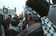 Protesters for the Palestinian cause in Berlin, Germany