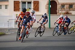 Laura Asencio (FRA) at the 2020 UEC Road European Championships - Under 23 Women Road Race, a 81.9 km road race in Plouay, France on August 26, 2020. Photo by Sean Robinson/velofocus.com