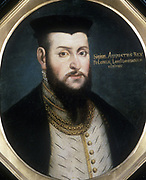 Sigismund II, Augustus (1520-72) co-ruler of Poland with his father 1530-48, sole ruler from 1548.  Anonymous portrait.