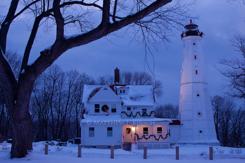 Northpoint Lighthouse was built in 1888.  It is constructed of cast iron and steel.  It stands 74 feet in height and is located in Lake Park in Milwaukee, Wisconsin.