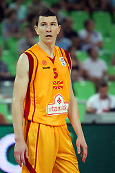 Vlado Illievski of Macedonia at friendly match between Macedonia and BIH for Adecco Cup 2011 as part of exhibition games before European Championship Lithuania on August 6, 2011, in SRC Stozice, Ljubljana, Slovenia. (Photo by Urban Urbanc / Sportida)