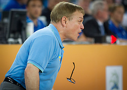 Mike Fratello, head coach of Ukraine losing his glasses when reacting during basketball match between National teams of Croatia and Ukraine in Quarterfinals at Day 16 of Eurobasket 2013 on September 19, 2013 in Arena Stozice, Ljubljana, Slovenia. (Photo by Vid Ponikvar / Sportida.com)