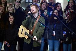 March 8, 2017 - New York, New York, USA - Ed Sheeran live bei der NBC 'Today Show' auf dem Rockefeller Plaza. New York, 08.03.2017. (Credit Image: © Future-Image via ZUMA Press)
