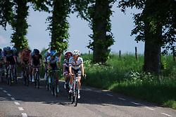 World Champion, Lizzie Armitstead leads the bunch at Boels Hills Classic 2016. A 131km road race from Sittard to Berg en Terblijt, Netherlands on 27th May 2016.