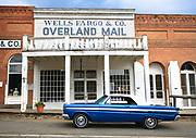 Classic car in front of Wells Fargo, Virginia City, Montana.