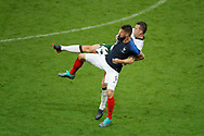 Olivier GIROUD (FRA) battled for the ball against Kevin Long (IRL) during the FIFA Friendly Game football match between France and Republic of Ireland on May 28, 2018 at Stade de France in Saint-Denis near Paris, France - Photo Stephane Allaman / ProSportsImages / DPPI