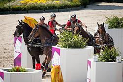 Brauchle Michael, (GER), Carola 83, Clinton, Eldiva, Jamaika<br /> Marathon Driving Competition<br /> FEI European Championships - Aachen 2015<br /> © Hippo Foto - Leanjo de Koster<br /> 22/08/15