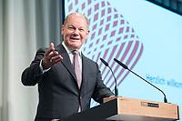 09 MAY 2019, BERLIN/GERMANY:<br /> Olaf Scholz, SPD, Bundesfinanzminister, haelt eine Rede, Wirtschaftskonferenz, Wirtschaftsforum der SPD, Kalkscheune<br /> IMAGE: 20190509-01-193