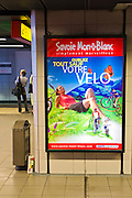 Advertisement in the metro, Lyon, France
