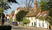Village street view Dedham, Essex, England