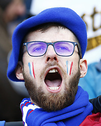 February 10, 2019 - London, England, United Kingdom - France support singing the France Anthem during the Guiness 6 Nations Rugby match between England and France at Twickenham  Stadium on February 10th, 2019 in Twickenham, London,  England. (Credit Image: © Action Foto Sport/NurPhoto via ZUMA Press)