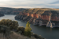 There are no trails in this part of Bighorn Canyon, so I had to find my own overlook.