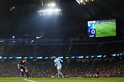 Leroy Sane of Manchester City takes on Harry Winks of Tottenham Hotspur - Mandatory by-line: Matt McNulty/JMP - 16/12/2017 - FOOTBALL - Etihad Stadium - Manchester, England - Manchester City v Tottenham Hotspur - Premier League