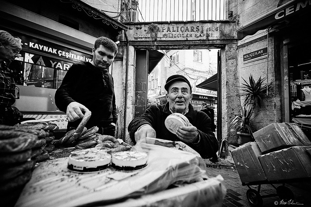 Street photography Istanbul Turkey / street vendors Travel photography of Mike Mulcaire photographer