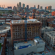 Arterra Apartments Under Construction, Crossroads District, Kansas City, Missouri; July 2018.