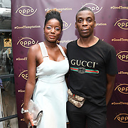 Style icon Nat attend the Oppo party to launch its new Madagascan Vanilla, Sicilian Lemon and Raspberry Cheesecakes, served with Skinny Prosecco at Farm Girls Café, 1 Carnaby Street, Soho, London, UK on July 18 2018.