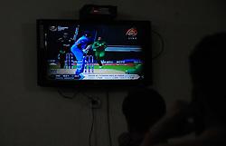 June 4, 2017 - Rawalpindi, Punjab, Pakistan - Pakistani cricket fan watching ICC champion trophy 2017 Pakistan between Indian cricket match in big screen at a private university hostel Rawalpindi. (Credit Image: © Zubair Abbasi/Pacific Press via ZUMA Wire)