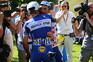Julian Alaphilippe (FRA - QuickStep - Floors), Philippe Gilbert (BEL - QuickStep - Floors) during the 105th Tour de France 2018, Stage 16, Carcassonne - Bagneres de Luchon (218 km) on July 24th, 2018 - Photo Kei Tsuji / BettiniPhoto / ProSportsImages / DPPI