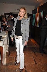 LADY ALEXANDRA SPENCER-CHURCHILL at a party to celebrate the publication of Lisa B's book 'Lifestyle Essentials' held at the Cook Book Cafe, Intercontinental Hotel, Park Lane London on 10th April 2008.<br />