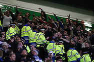 England's fans taunt the Scots after going 3-1 ahead<br /> <br /> - International Friendly - Scotland vs England- Celtic Park - Glasgow - Scotland - 18th November 2014  - Picture David Klein/Sportimage