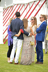 MILLIE MACKINTOSH & HUGO TAYLOR at the Cartier Queen's Cup Final 2016 held at Guards Polo Club, Smiths Lawn, Windsor Great Park, Egham, Surry on 11th June 2016.