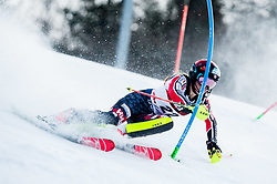 """Erin Mielzynski (CAN) competes during 1st Run of FIS Alpine Ski World Cup 2017/18 Ladies' Slalom race named """"Snow Queen Trophy 2018"""", on January 3, 2018 in Course Crveni Spust at Sljeme hill, Zagreb, Croatia. Photo by Vid Ponikvar / Sportida"""