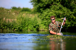 UK ENGLAND WILTSHIRE 26JUN08 - River keeper John Hounslow cuts weeds in the riverbed of the Kennet near Stichcoombe in rural Wiltshire, western England...jre/Photo by Jiri Rezac / WWF UK..© Jiri Rezac 2008..Contact: +44 (0) 7050 110 417.Mobile:  +44 (0) 7801 337 683.Office:  +44 (0) 20 8968 9635..Email:   jiri@jirirezac.com.Web:     www.jirirezac.com..© All images Jiri Rezac 2008 - All rights reserved.