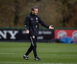 CARDIFF, WALES - Sunday, November 17, 2019: Wales' assistant coach Albert Stuivenberg during a training session at the Vale Resort ahead of the final UEFA Euro 2020 Qualifying Group E match against Hungary. (Pic by David Rawcliffe/Propaganda)