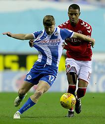 Wigan's Michael Jacobs and Charlton Athletic's Ezri Konsa
