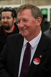 Pictured: Alex Rowley<br /> <br /> Scottish Labour deputy leader Alex Rowley was joined by the party's environment spokeswoman Sarah Boyack and party activists at a farmers' market in the Grassmarket, Edinburgh today. <br /> <br /> Ger Harley | EEm 1 April 2016