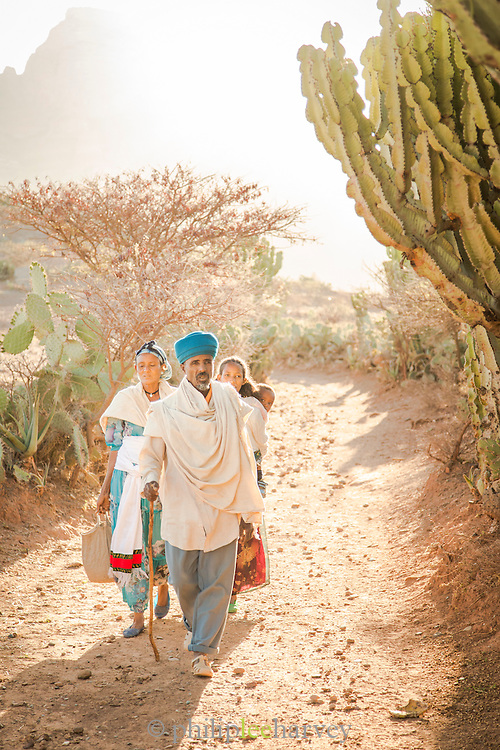 Family portrait. Hawzen, Gheralta area, Tigray, Ethiopia, Horn of Africa