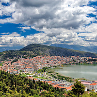 Kastoria. Macedonia. Greece. Panoramic view of Kastoria, a picturesque lake town in mountainous North-western Greece.