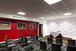 New press conference room in the Lansdown Stand at Ashton Gate - Rogan Thomson/JMP - 30/01/2017 - SPORT - Ashton Gate Stadium - Bristol, England - New West Stand Facilities.