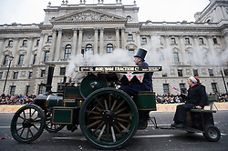 © London News Pictures. 01/01/2012. London, UK. Minature steamers and Associates for Charity ride scale replicas of steam traction engines built between 1880 and 1930 at the 2012 New Years Parade in London on January 1st, 2012. Photo credit : Ben Cawthra?LNP