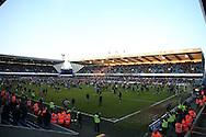 Millwall fans invade the pitch after full time after their team win 1-0. The Emirates FA Cup 5th round match, Millwall v Leicester City at The Den in London on Saturday 18th February 2017.<br /> pic by John Patrick Fletcher, Andrew Orchard sports photography.