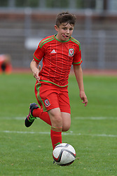 NEWPORT, WALES - Thursday, August 4, 2016: Regional Development Boys Tom Sparrow during the Welsh Football Trust Cymru Cup 2016 at Newport Stadium. (Pic by Paul Greenwood/Propaganda)