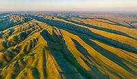 Aerial view of the Orenburg Nature Reserve. Aytuarskaya Steppe. Russia