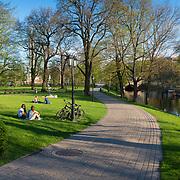 Bastion Hill Park historic place in Riga, Latvia