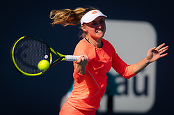 March 22, 2019 - Miami, FLORIDA, USA - Aliaksandra Sasnovich of Belarus in action during the second-round at the 2019 Miami Open WTA Premier Mandatory tennis tournament (Credit Image: © AFP7 via ZUMA Wire)