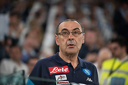 April 22, 2018 - Turin, Piedmont/Turin, Italy - Maurizio Sarri durig the Serie A match Juventus FC vs Napoli. Napoli won 0-1 at Allianz Stadium, in Turin, Italy 22nd april 2018 (Credit Image: © Alberto Gandolfo/Pacific Press via ZUMA Wire)