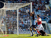 Photo: Richard Lane.<br />Coventry City v Rotherham United. Nationwide Division One. 24/04/2004.<br />Andy Morrell celebrates scoring Coventry's goal.