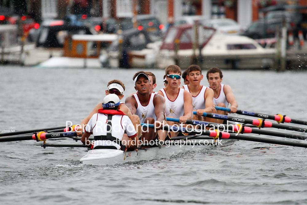 Race: 76 - Event: PE - Berks: 161 DEERFIELD ACADEMY, USA - Bucks: 186 THE HAVERFORD SCHOOL, USA<br /> <br /> Henley Royal Regatta 2017<br /> <br /> To purchase this photo, or to see pricing information for Prints and Downloads, click the blue 'Add to Cart' button at the top-right of the page.