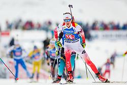 Monika Hojnisz (POL) during Single Mixed Relay at day 1 of IBU Biathlon World Cup 2018/19 Pokljuka, on December 2, 2018 in Rudno polje, Pokljuka, Pokljuka, Slovenia. Photo by Ziga Zupan / Sportida