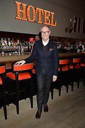 A party to celebrate the publication of renowned international fashion designer and icon Collette Dinnigan's book Obsessive Creative was held at the Ham Yard Hotel, One Ham Yard, London on 16th February 2015.<br /> Picture Shows:-CRAIG MARKHAM.