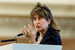 © Licensed to London News Pictures. 23/04/2015. Central Hall Westminster, London, UK. Baroness Helena Kennedy QC speaking at the Vote For Justice Rally, organised by the LCCSA, (London Criminal Courts Solicitor's Association). Photo credit : David Tett/LNP