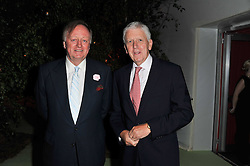Left to right, ANDREW PARKER-BOWLES and LORD POWELL at a dinner hosted by Cartier in celebration of the Chelsea Flower Show held at Battersea Power Station, 188 Kirtling Street, London SW8 on 23rd May 2011.